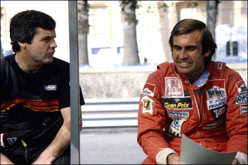 Пилоты Williams Алан Джонс и Карлос Ройтеман, Гран При Бразилии 1981 года