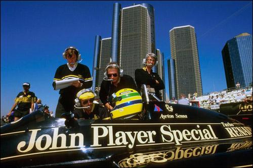 Айртон Сенна перед стартом Гран При Детройта, 1986 год