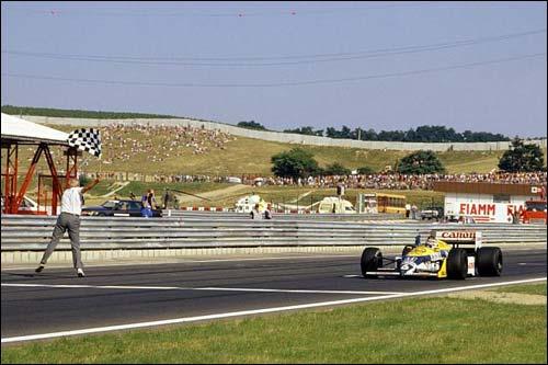 Нельсон Пике выигрывает Гран При Венгрии 1987 года