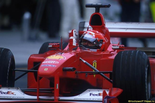 Михаэль Шумахер на Гран При США 2000 года