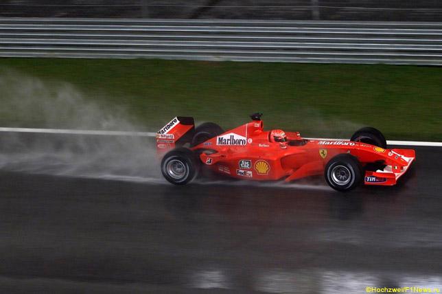 Михаэль Шумахер на Гран При Малайзии 2001 года