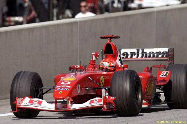 Михаэль Шумахер на Гран При Австрии 2003 года