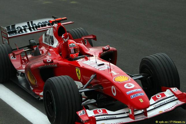 Михаэль Шумахер побеждает на Гран При Бахрейна 2004 года