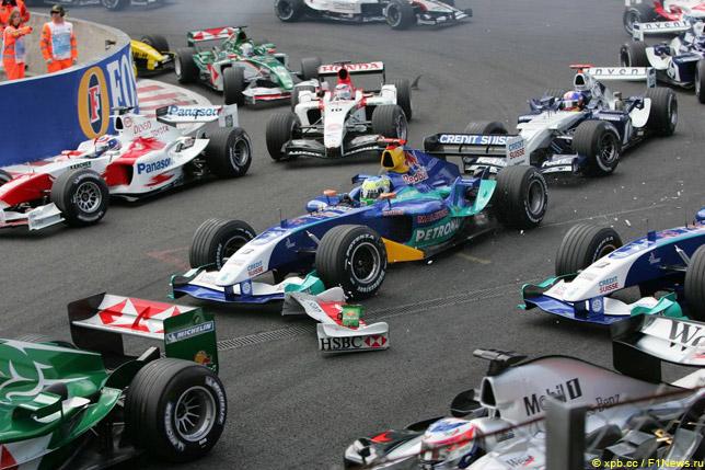 Старт Гран При Бельгии 2004 года