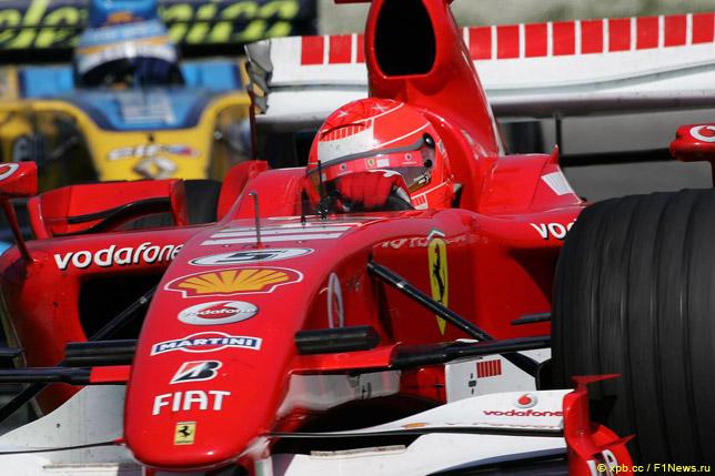 Михаэль Шумахер на Гран При Сан-Марино 2006 года