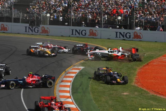 Массовая авария на первом круге Гран При Австралии 2008 года