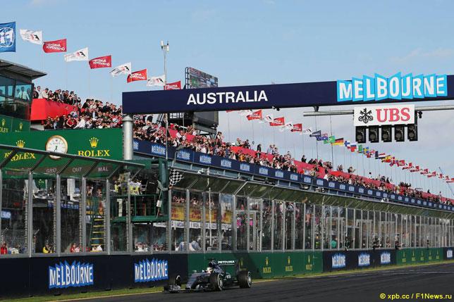 Льюис Хэмилтон на Гран При Австралии