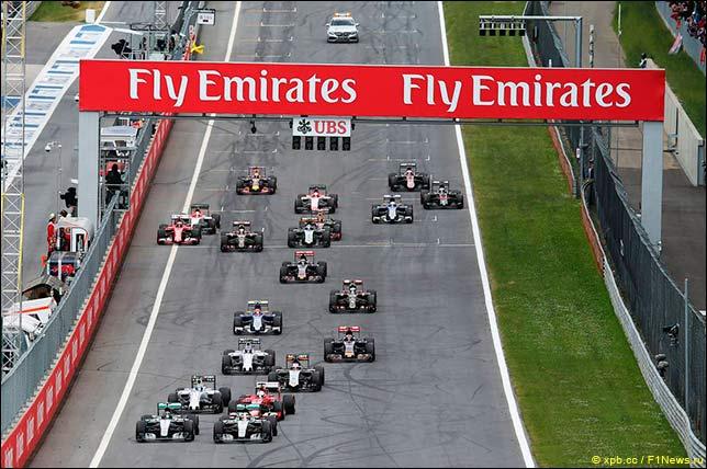 Старт Гран При Австрии