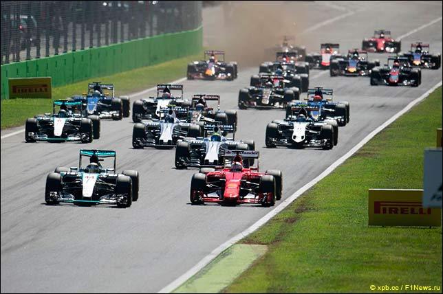 Старт Гран При Италии