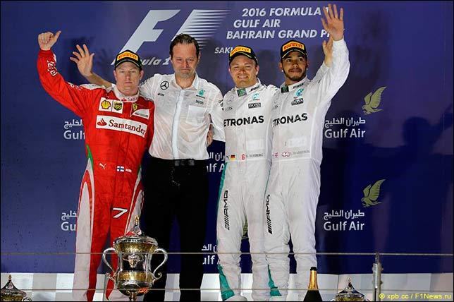 Подиум Гран При Бахрейна