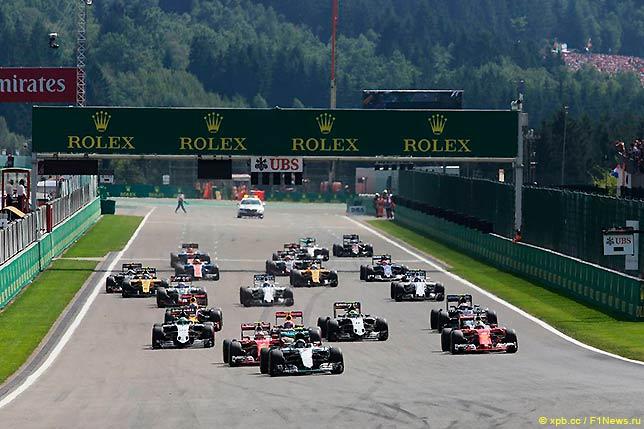 Старт Гран При Бельгии 2016