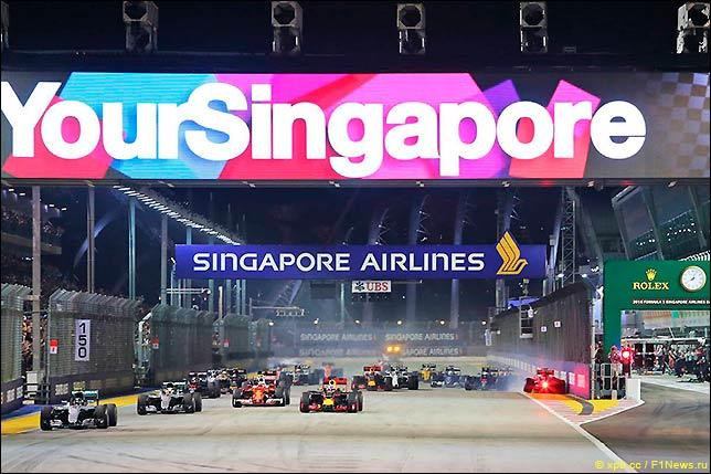Старт Гран При Сингапура 2016