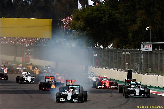 Старт Гран При Мексики 2016