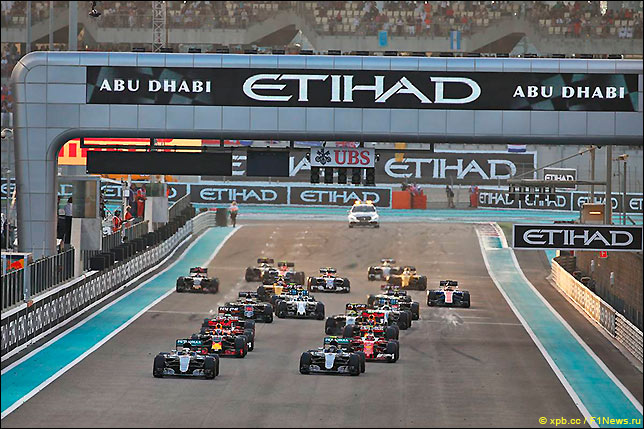 Старт Гран При Абу-Даби 2016