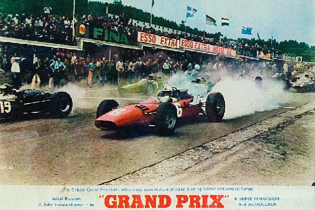 Один из постеров фильма «Гран При», на котором изображён старт Гран При Бельгии