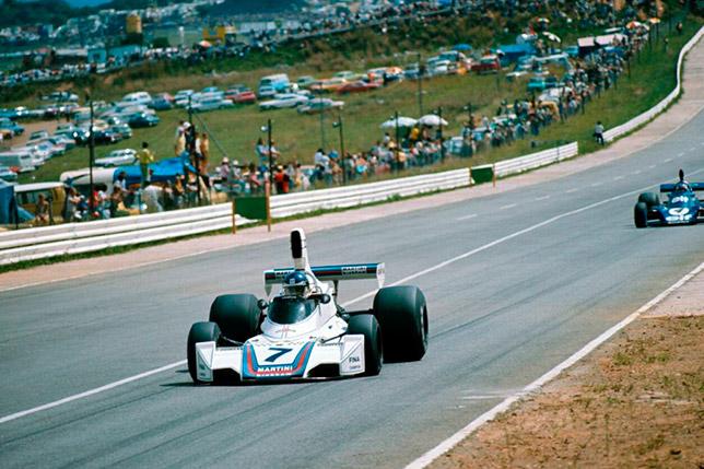 Карлос Ройтеман и Патрик Депайе на Гран При ЮАР 1975 года