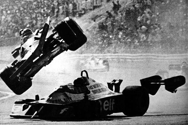Авария Жиля Вильнёва и Ронни Петерсона на Гран При Японии 1977 года