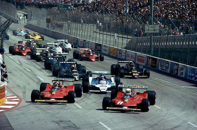 Старт Гран При США-Запад в Лонг-Бич в 1979 году