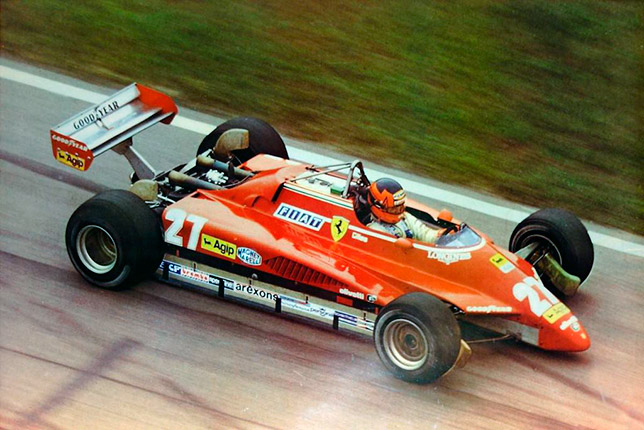 Жиль Вильнёв на Гран При Бразилии 1982 года