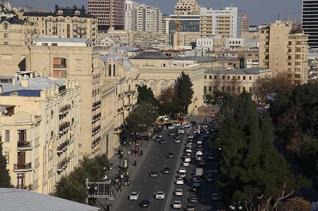 Столица Азербайджана Баку, проспект Нефтяников, по которому пройдёт трасса Гран При Европы