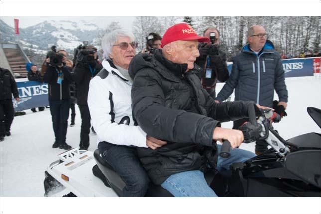 Берни Экклстоун и Ники Лауда в Кицбюэле, фото Kurier.at