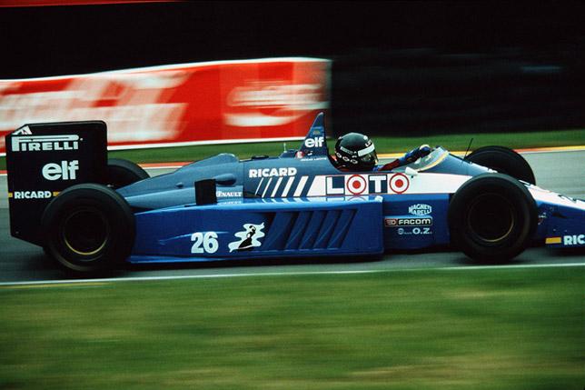 Жак Лаффит на Гран При Великобритании 1986 года
