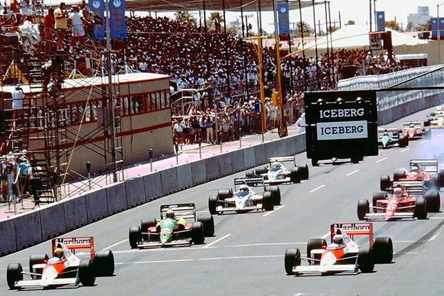 Старт Гран При США 1989 года в Финиксе