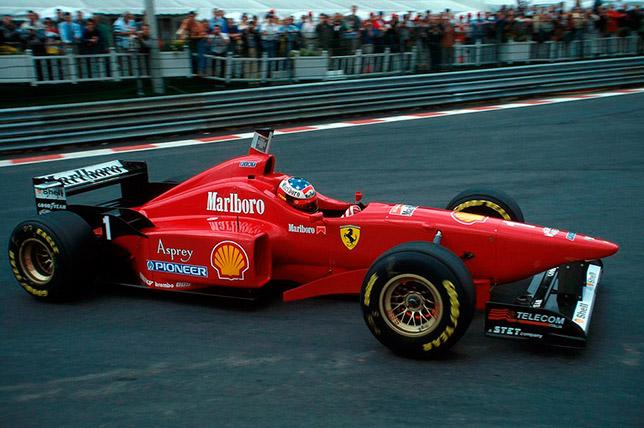 Михаэль Шумахер на Гран При Бельгии 1996 года