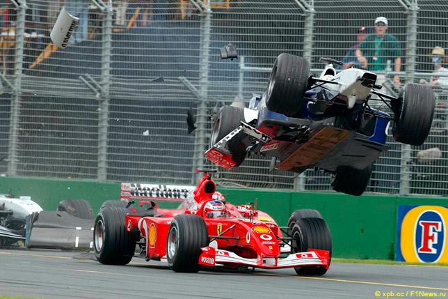 Авария Ральфа Шумахера и Рубенса Баррикелло на Гран При Австралии 2002 года