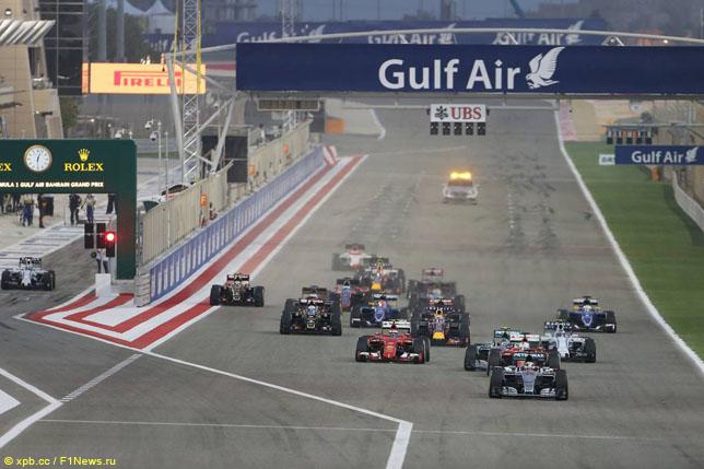 Старт Гран При Бахрейна, 2015 год