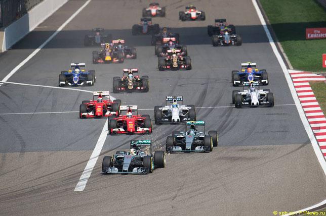 Старт Гран При Китая, 2015 год