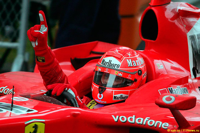 Михаэль Шумахер выигрывает Гран При Китая 2006 года