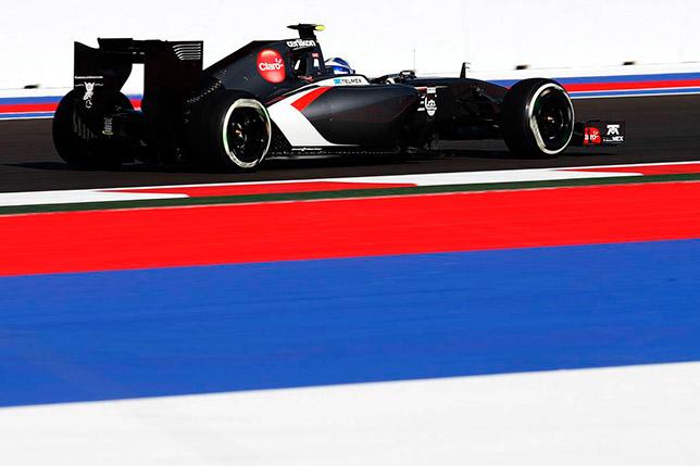 Сергей Сироткин на свободных заездах Гран При России 2014 года