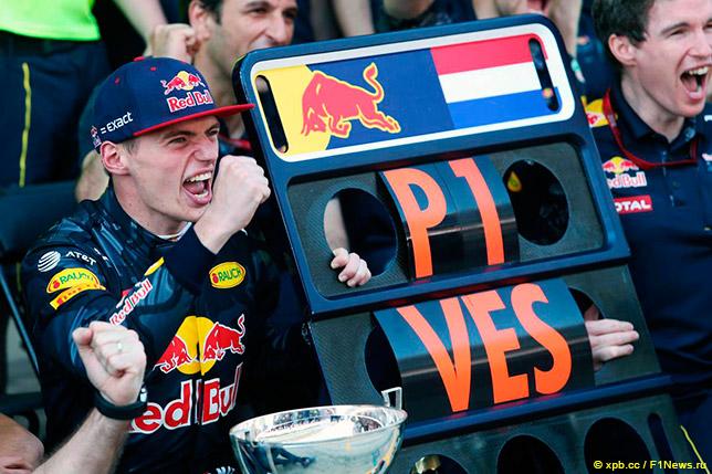 Макс Ферстаппен после своей первой гонки за Red Bull Racing