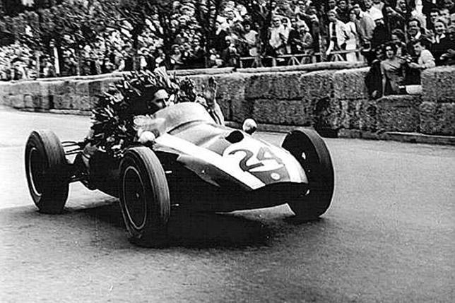 Джек Брэбэм выигрывает Гран При Монако 1959 года