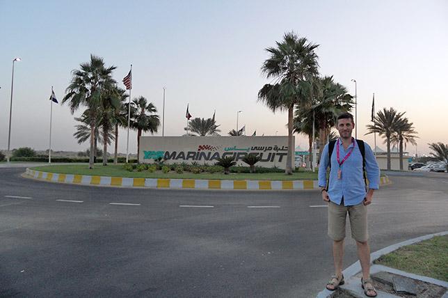 Алексей Косульников на трассе Яс Марина в Абу-Даби