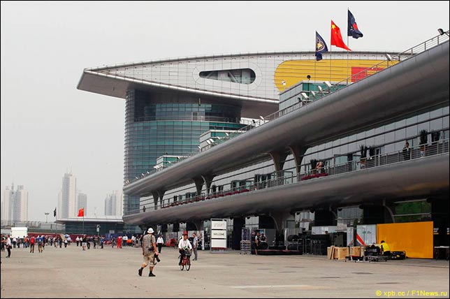 Паддок Гран При Китая