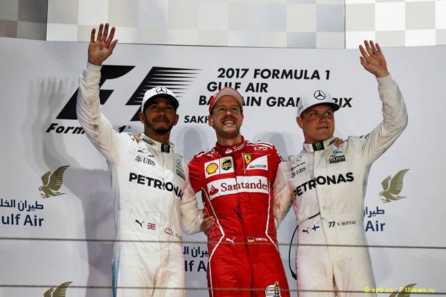 Гран При Бахрейна. Подиум
