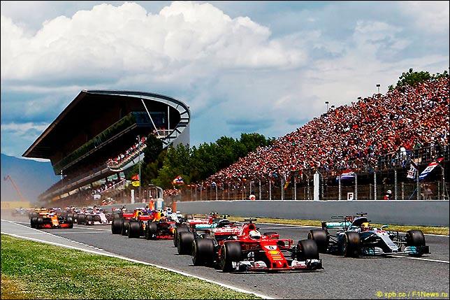 Старт Гран При Испании 2017