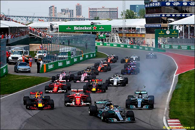 Старт Гран При Канады 2017