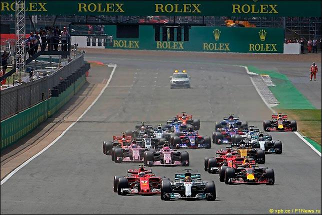 Старт Гран При Великобритании 2017
