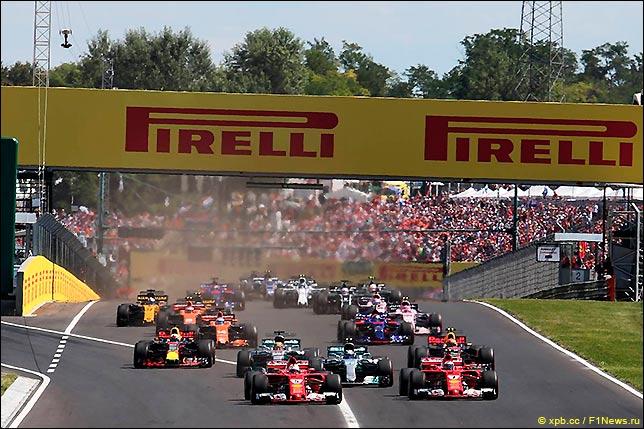 Старт Гран При Венгрии 2017