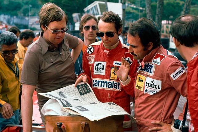 Ники Лауда и Клей Регаццони на Гран При Монако 1976 года