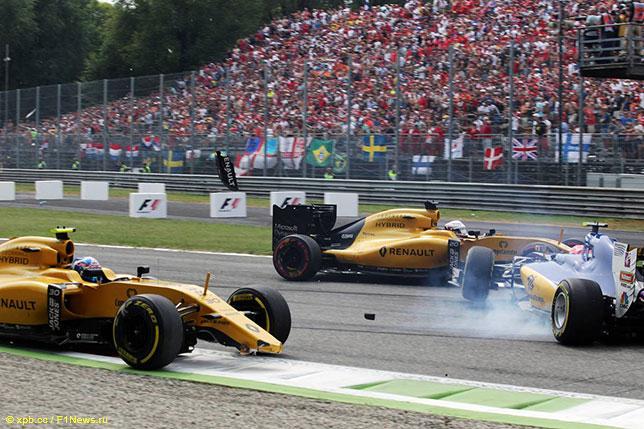 Эпизод Гран При Италии, за который был оштрафован Фелипе Наср