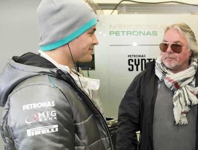 Нико Росберг и его отец, Кеке Росберг, чемпион мира 1982 года