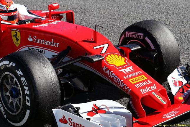 Номер 7 на Ferrari Кими Райкконена