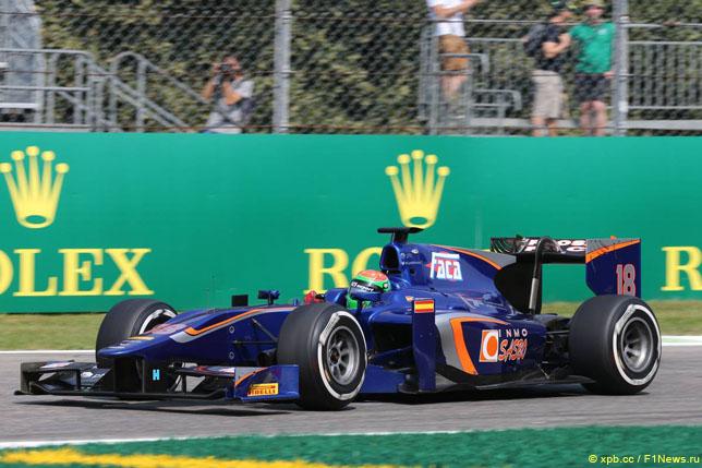 Серхио Канамасас за рулем Carlin на этапе серии GP2 в Монце