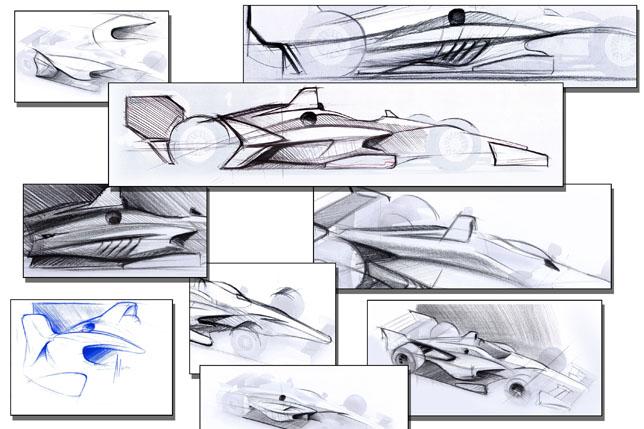 Концепт машин IndyCar 2018 года
