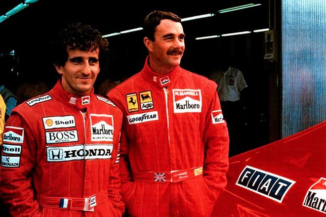 Ален Прост (McLaren) и Найджел Мэнселл (Ferrari)