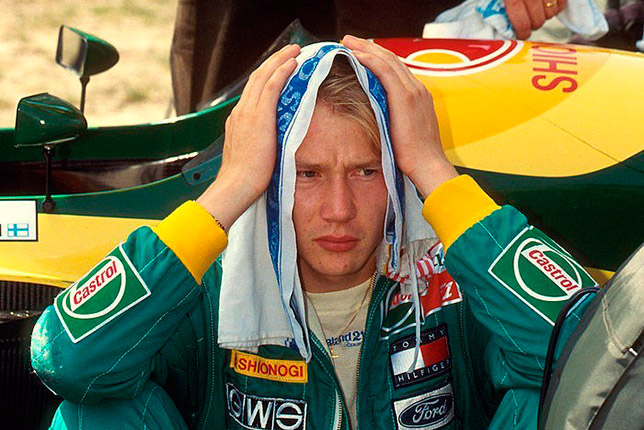 Мика Хаккинен в Lotus, 1992 год